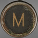 typewriter key letter M