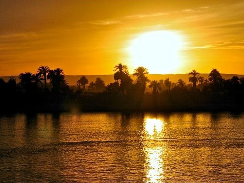 Sunset from Luxor Egypt