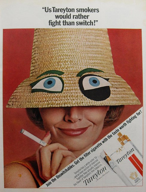 1966 Vintage TAREYTON CIGARETTES ADVERTISMENT 1960s ad