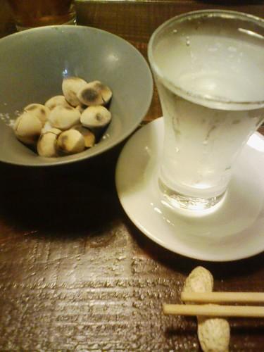 日本酒と銀杏