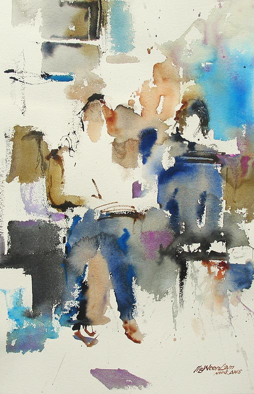 semi abstract figure paintings by ng woon lam open art. Black Bedroom Furniture Sets. Home Design Ideas