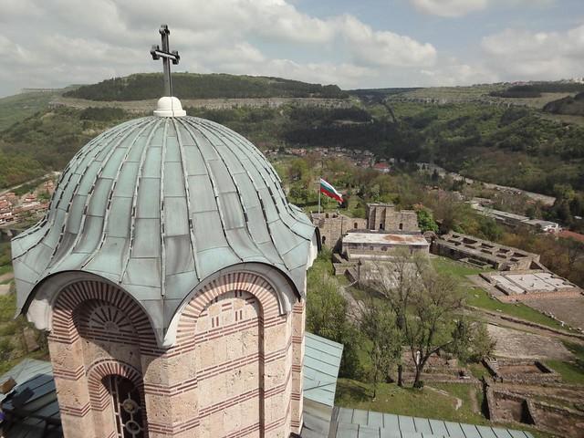 Fotografias da Fortaleza Tsarevets em Veliko Tarnovo, Bulgária