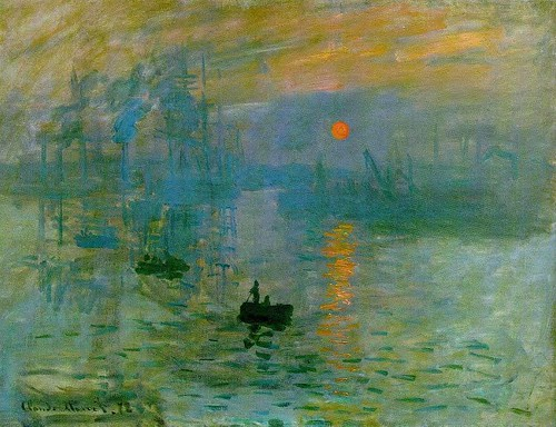 Monet, Claude (1840-1926) - 1872 Impression Sunrise (Musee Marmottan, Paris)