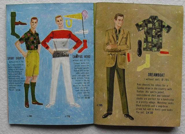 Barbie and Ken 1961 Mattel Vintage Fashion Illustration Catalogs 1960s (1)