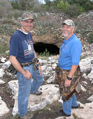 Phil Seng and Bob Byrne at Bracken Cave