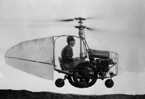 Jess Dixon in his flying automobile