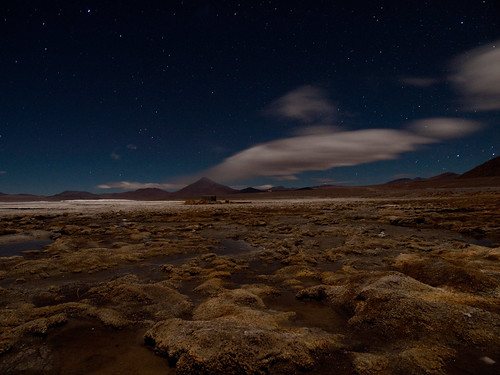 Laguna colorada by night