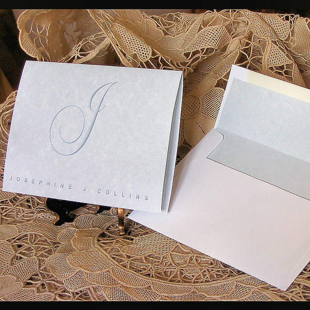 Personalized Papers Executive Stationery: Personalized,monogram,initial,name,note Card,stationery