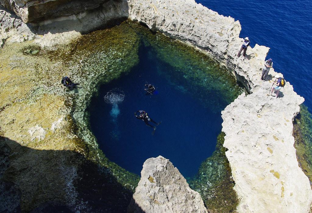 Blue hole de Malta