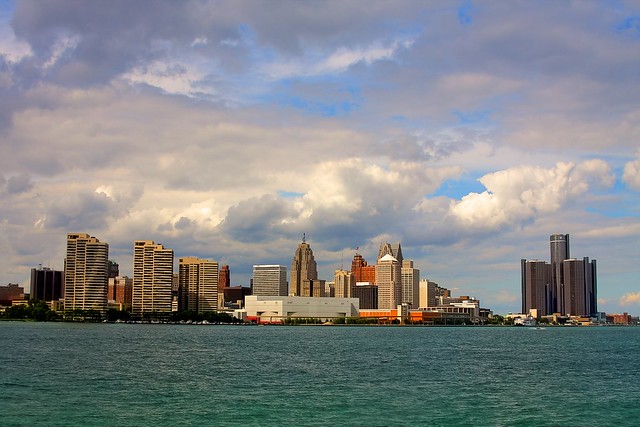 Detroit skyline from Windsor, ON
