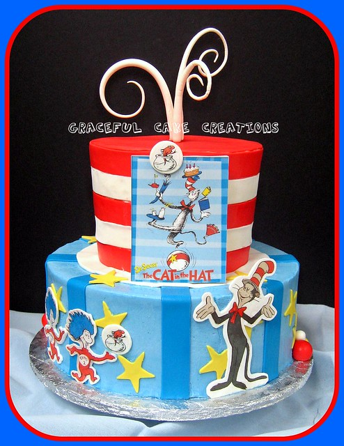 cat in the hat baby shower cake flickr photo sharing