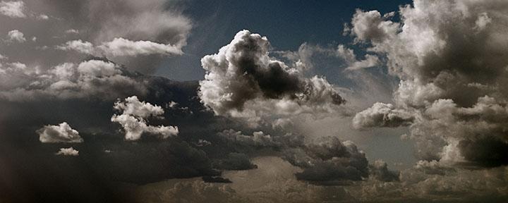 Photography - Cumulus Clouds Panorama by Nicholas M Vivian