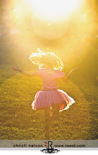 At the end of the day, a fairy princess always dances in the last ray of the sun...