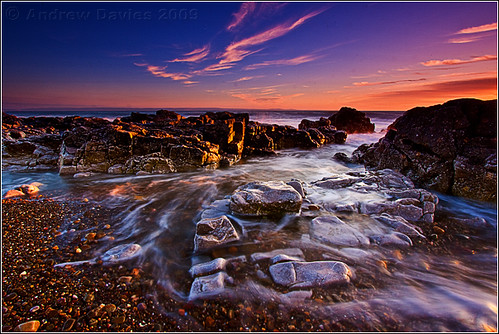 longexposure sunset sea sun beach water wales geotagged coast seaside twilight sand rocks dusk south pebbles explore glamorgan dwr picks bridgend gloaming porthcawl canonefs1022mmf3545usm restbay explored lowandwide penybontarogwr canoneos40d andrewwilliamdavies geo:lat=51493675 geo:lon=3730288 gettyartistpicksoctober09