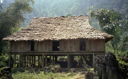 House on stilts in Hmong village, Vietnam