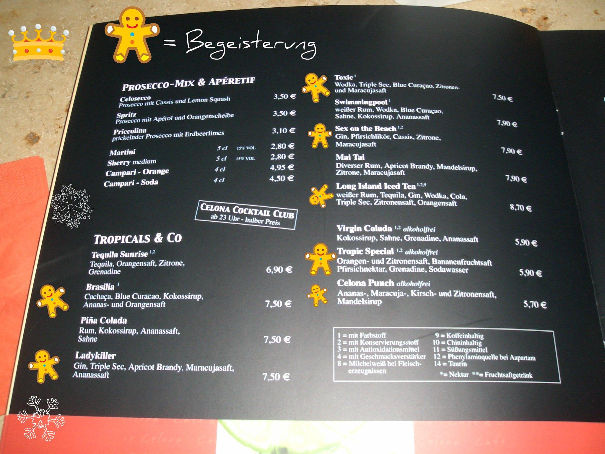 Cafe Bar Celona L Ef Bf Bdbeck Speisekarte