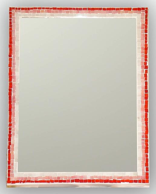 Specchio con cornice in mosaico di tessere di vetro - Specchio con mosaico ...