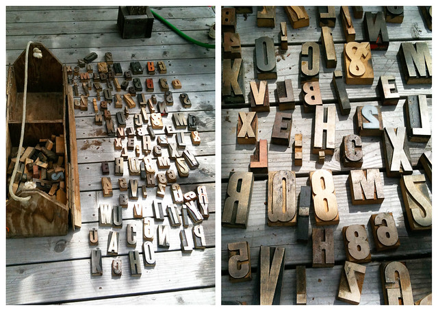 wood letter stamps