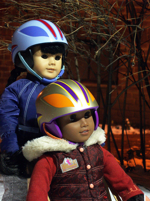 Inky and Sonali Sledding
