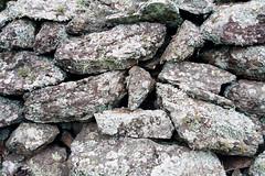 boulder, stone wall, wall, rubble, igneous rock, green, geology, bedrock, rock,
