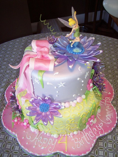 Birthday Cake Ideas Girl 7 : Tinkerbell Cake Fun and girly cake for a very cute ...