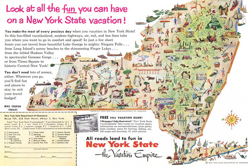 Vintage Ad #895: Look at all the fun you can have a New York State vacation