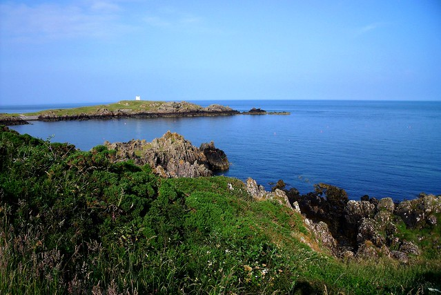 bay with cairn isle of whithorn dumfries amp galloway
