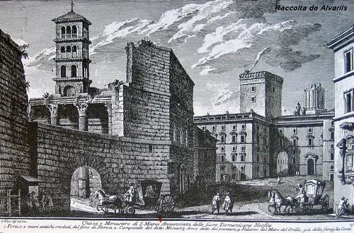 1758 2007 S. Maria Annunziata suore Domenicane Neofiti Incisione di Giuseppe Vasi