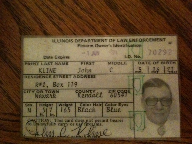 John C Kline Illinois FOID card | Flickr - Photo Sharing!