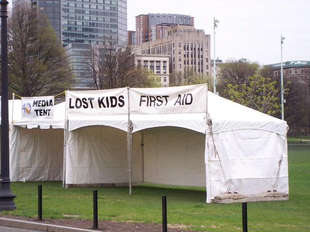 lost kids and first aid kiosks