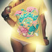 Delicious colors tee for Funkrush UK by elebea (Argentina) and SAT by Stick-A-Thing_____S_____ A_____T