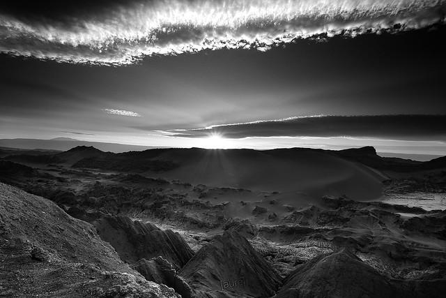 Valle de la Luna (b&w) - Chile