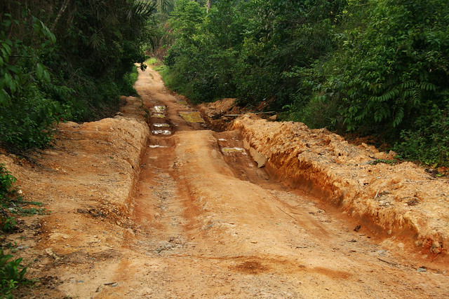 Rutted Dirt Road In The Jungle Sierra Leone Flickr