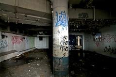 Column in a Dark Room