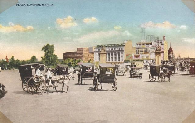 Plaza Lawton Manila Philippines Circa 1930 Flickr