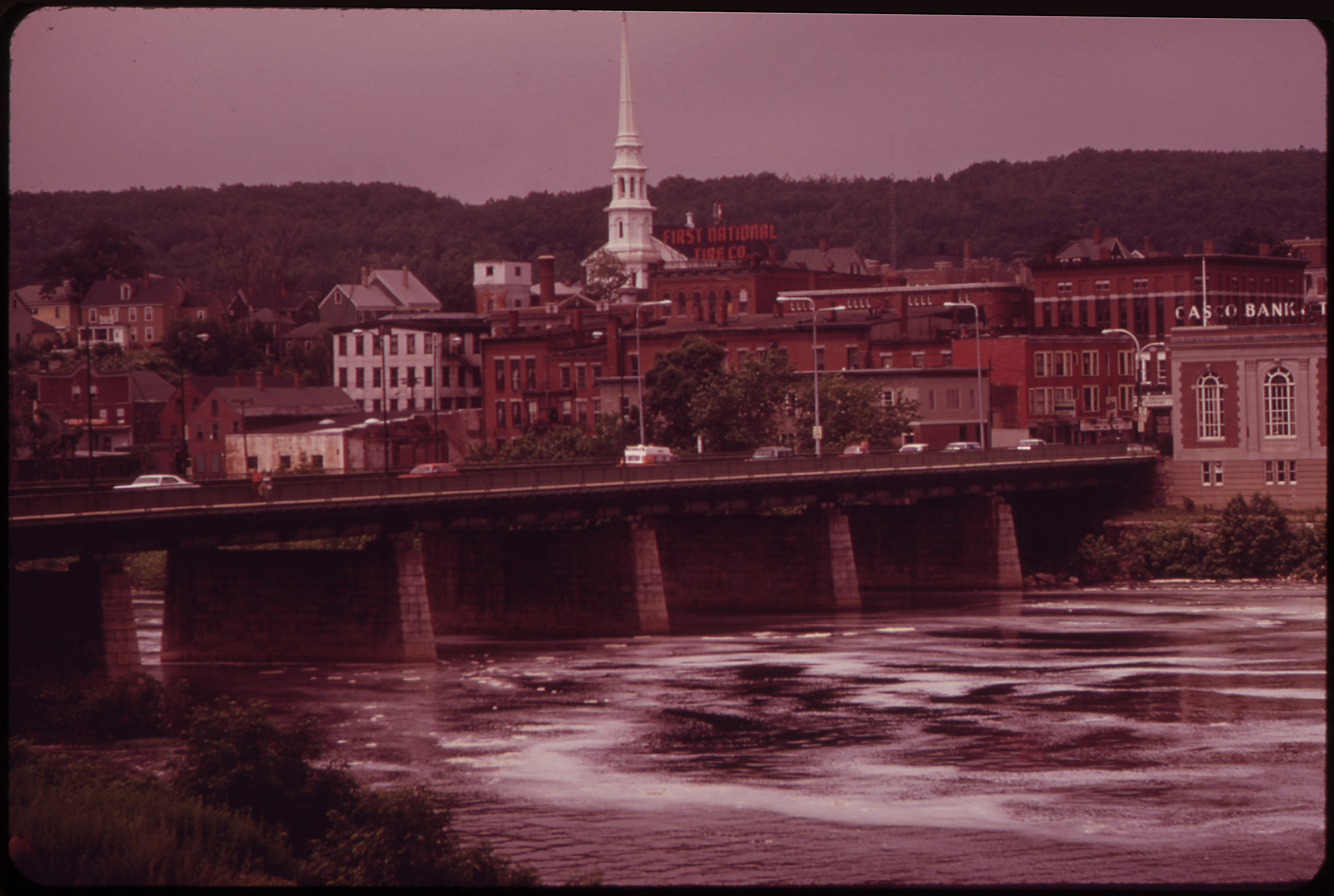 Looking Across the Androscoggin River to the City of Auburn from the Lewiston Side ... 06/1973