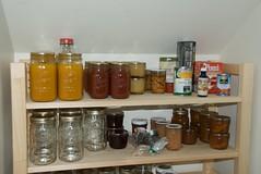 shelf, room, bottle, pantry, canning,
