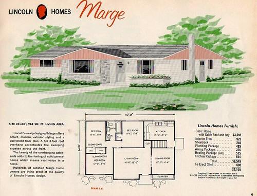 Lincoln homes marge flickr photo sharing for Split level house plans 1960s