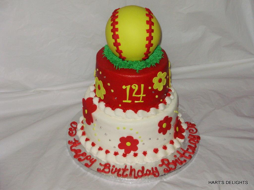 Girls Softball Birthday Cake A Photo On Flickriver