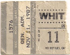 11/11/87 Whitesnake/Great White @ Duluth, MN (Ticket)