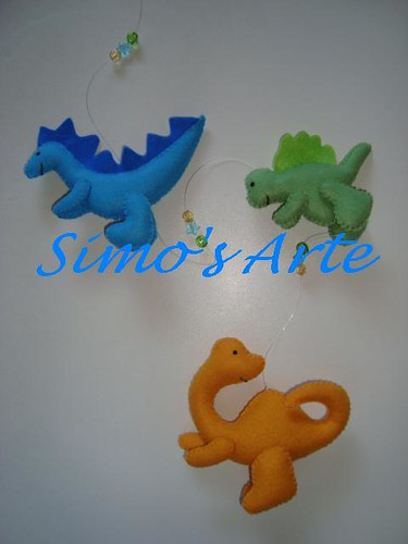 Mobile dinossauros by Artes by Simo's®