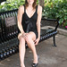Sexy Model Beauty on Park Bench by PhotoAmateur1