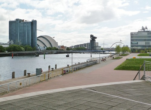 Pacific Quay and River Clyde, Glasgow