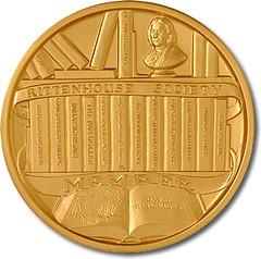 Eric P. Newman Centenary medal reverse