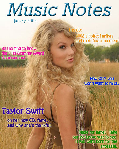 music notes magazine cover