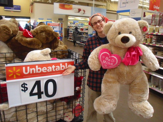 Happy Valentine S Day From A Giant Over Priced Teddy Bear