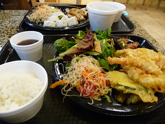 meal, lunch, steamed rice, tonkatsu, fish, food, dish, cuisine, tempura,