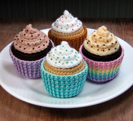Crochet Pattern Free Cupcake : More Amigurumi Cupcakes Flickr - Photo Sharing!