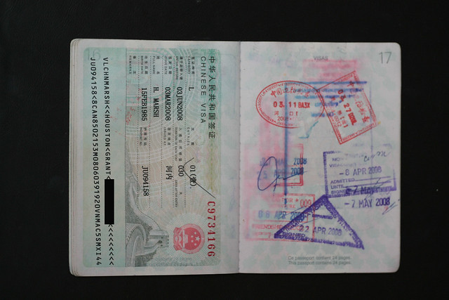 China, Thailand and Laos visa