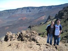 Haleakala National Park, Maui: Kalahaku Overlook - Nikki and John